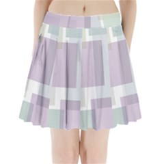 Abstract Background Pattern Design Pleated Mini Skirt