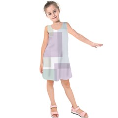 Abstract Background Pattern Design Kids  Sleeveless Dress