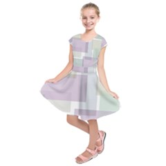 Abstract Background Pattern Design Kids  Short Sleeve Dress