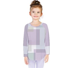 Abstract Background Pattern Design Kids  Long Sleeve Tee