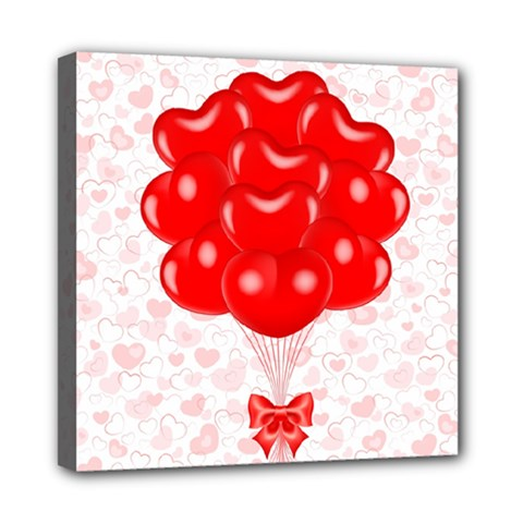 Abstract Background Balloon Mini Canvas 8  x 8
