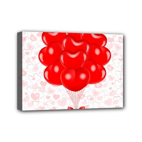 Abstract Background Balloon Mini Canvas 7  x 5