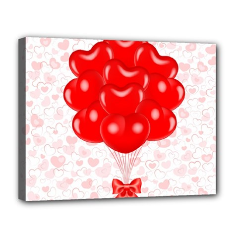 Abstract Background Balloon Canvas 14  x 11