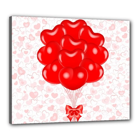 Abstract Background Balloon Canvas 24  x 20