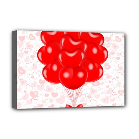 Abstract Background Balloon Deluxe Canvas 18  x 12