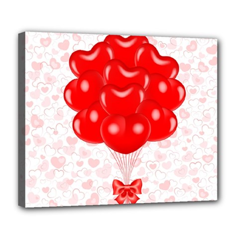 Abstract Background Balloon Deluxe Canvas 24  x 20