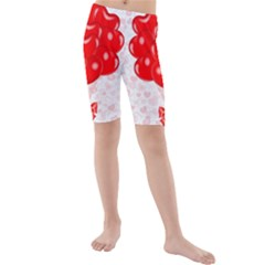 Abstract Background Balloon Kids  Mid Length Swim Shorts