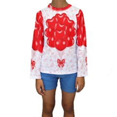 Abstract Background Balloon Kids  Long Sleeve Swimwear