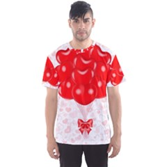 Abstract Background Balloon Men s Sport Mesh Tee