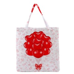 Abstract Background Balloon Grocery Tote Bag