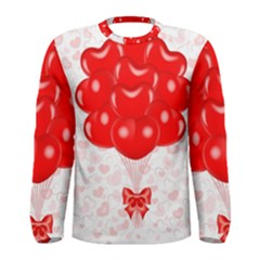 Abstract Background Balloon Men s Long Sleeve Tee
