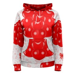 Abstract Background Balloon Women s Pullover Hoodie