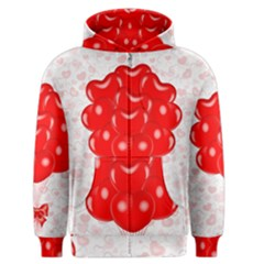 Abstract Background Balloon Men s Zipper Hoodie