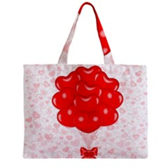 Abstract Background Balloon Zipper Mini Tote Bag