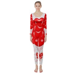 Abstract Background Balloon Long Sleeve Catsuit