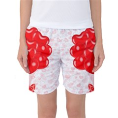 Abstract Background Balloon Women s Basketball Shorts