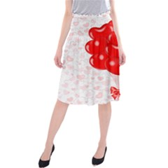 Abstract Background Balloon Midi Beach Skirt