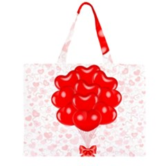 Abstract Background Balloon Large Tote Bag