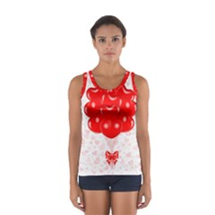Abstract Background Balloon Women s Sport Tank Top