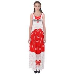 Abstract Background Balloon Empire Waist Maxi Dress