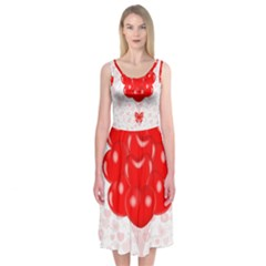 Abstract Background Balloon Midi Sleeveless Dress