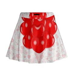 Abstract Background Balloon Mini Flare Skirt