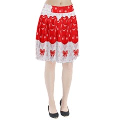Abstract Background Balloon Pleated Skirt