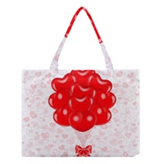 Abstract Background Balloon Medium Tote Bag