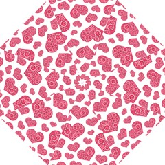 Heart Love Pink Back Golf Umbrellas