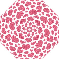 Heart Love Pink Back Hook Handle Umbrellas (Small)