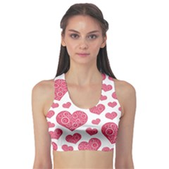Heart Love Pink Back Sports Bra