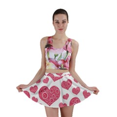 Heart Love Pink Back Mini Skirt