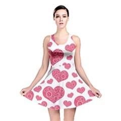 Heart Love Pink Back Reversible Skater Dress