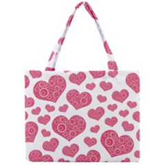 Heart Love Pink Back Mini Tote Bag