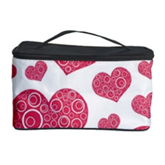 Heart Love Pink Back Cosmetic Storage Case