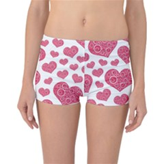 Heart Love Pink Back Reversible Bikini Bottoms