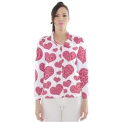 Heart Love Pink Back Wind Breaker (Women)