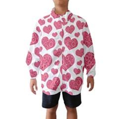 Heart Love Pink Back Wind Breaker (Kids)