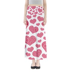 Heart Love Pink Back Maxi Skirts