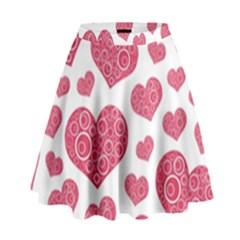 Heart Love Pink Back High Waist Skirt