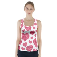 Heart Love Pink Back Racer Back Sports Top