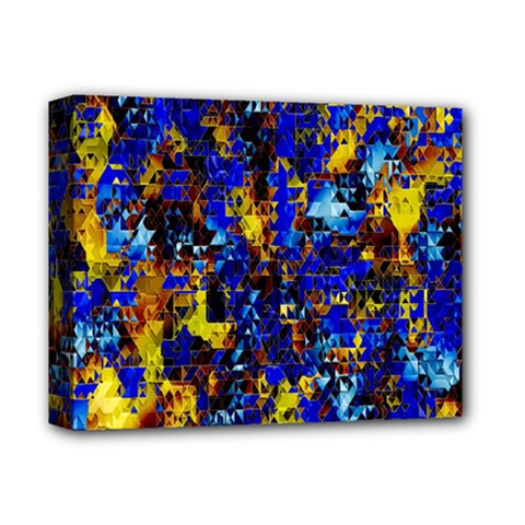 Network Blue Color Abstraction Deluxe Canvas 14  x 11