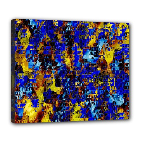 Network Blue Color Abstraction Deluxe Canvas 24  x 20