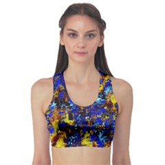 Network Blue Color Abstraction Sports Bra