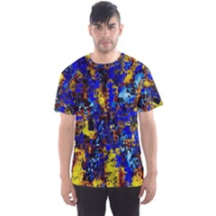 Network Blue Color Abstraction Men s Sport Mesh Tee