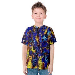 Network Blue Color Abstraction Kids  Cotton Tee