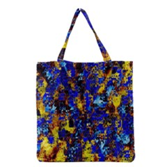 Network Blue Color Abstraction Grocery Tote Bag