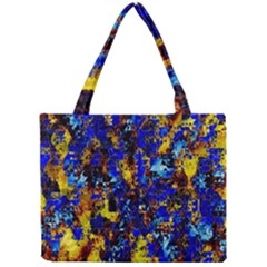 Network Blue Color Abstraction Mini Tote Bag