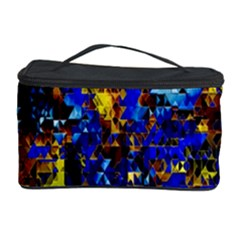 Network Blue Color Abstraction Cosmetic Storage Case