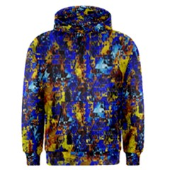 Network Blue Color Abstraction Men s Pullover Hoodie